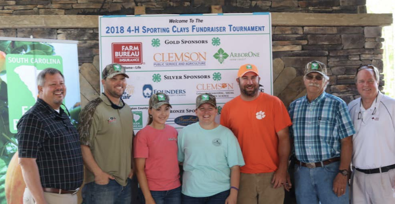 Edgefield Co. Farm Bureau Team at 4-H Clay Sporting Fundraiser